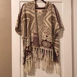 Love sweater poncho size small/medium